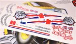 UK British Bulldog theme vinyl stickers to fit Tamiya Lunch Box inc. Tyre Decals
